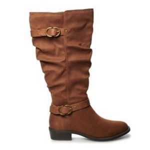 Knee high slouch shaft boots by Sonoma